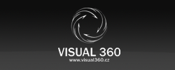 Logotyp Visual360 | Logotyp pro společnost zabývající se 3D vizualizací