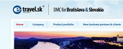 E-travel.sk website | DMC for Bratislava and Slovakia website