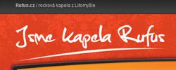 Rufus.cz | Grafický návrh webu hudební skupiny. Spolupráce s Eastburger.cz, ilustrace Libor Drobný