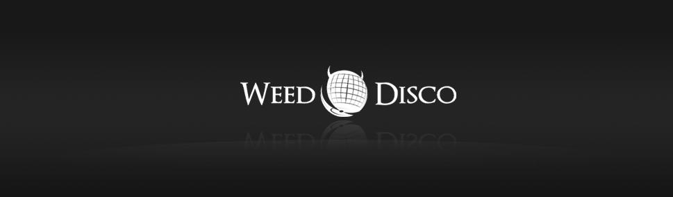 Logotyp Weed Disco Logotyp pro label zaměřený na elektronickou hudbu