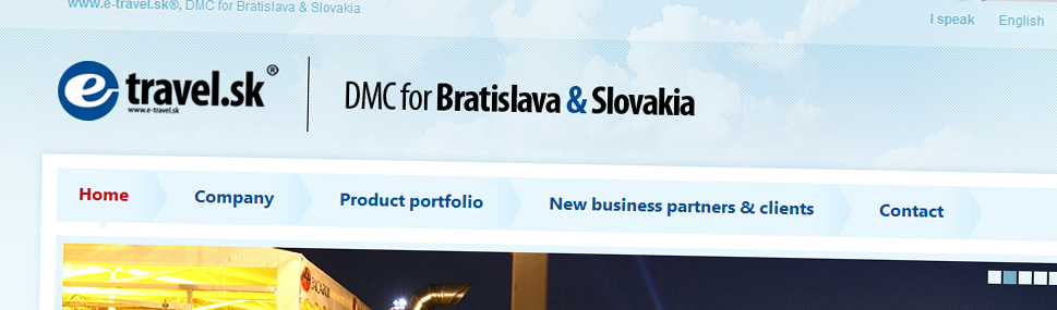 Web e-travel.sk Návrh a vytvoření webu pro e-Travel.sk, Bratislava, Slovensko.