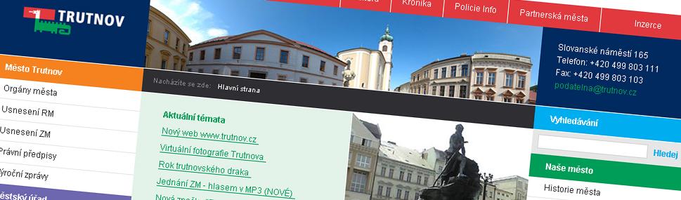 Návrhy webu Trutnov.cz Nerealizované návrhy pro město Trutnov